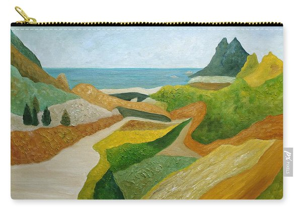 Carry-all Pouch featuring the painting A Walk Down To The Sea by Angeles M Pomata