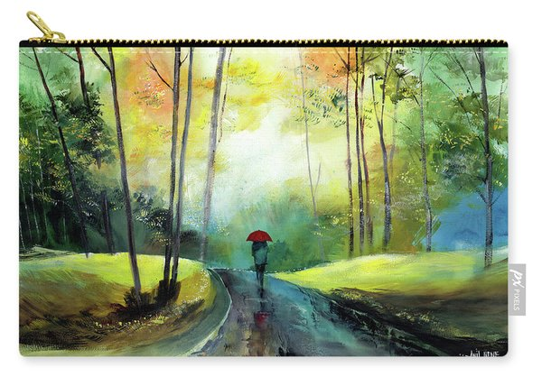 A Walk In The Rain Carry-all Pouch