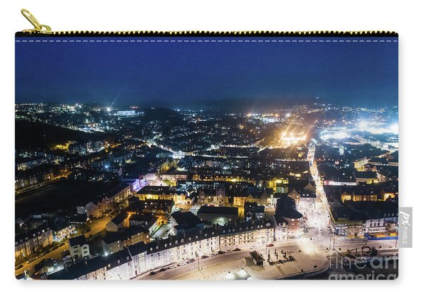 Aberystwyth At Night From The Air Carry-all Pouch