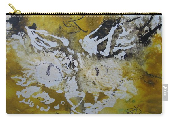 Abstract Cat Face Yellows And Browns Carry-all Pouch