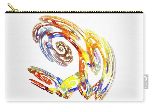 Carry-all Pouch featuring the digital art Abstract Crab Yellow by Don Northup