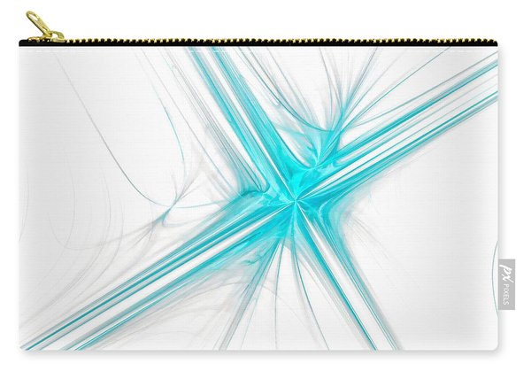 Abstract Cross Light Blue Carry-all Pouch