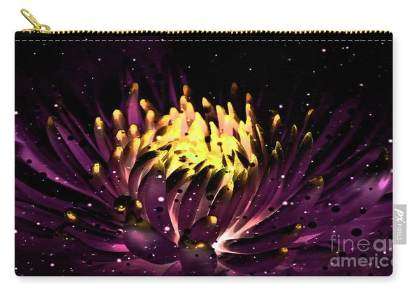 Abstract Digital Dahlia Floral Cosmos 891 Carry-all Pouch