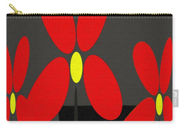 Abstract Floral Art 393 Carry-all Pouch