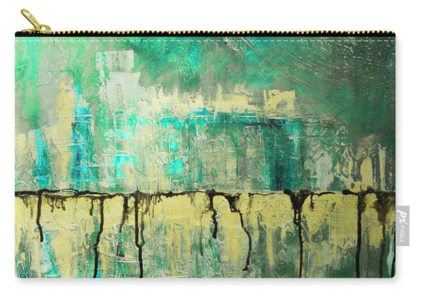 Abstract In Yellow And Green 2 Carry-all Pouch