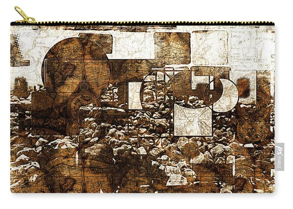 Abstract Map Carry-all Pouch
