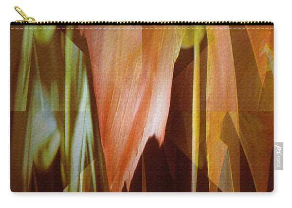 Abstract Orange Flower Carry-all Pouch