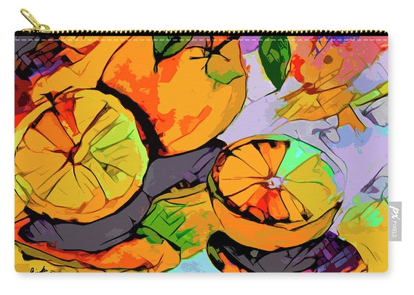 Abstract Oranges Modern Food Art Carry-all Pouch