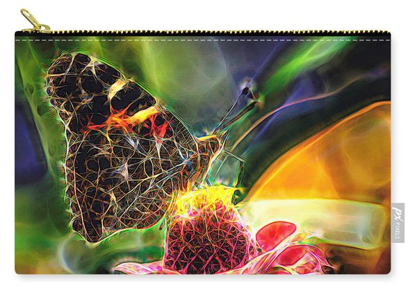 Abstract Painted Lady Butterfly Carry-all Pouch