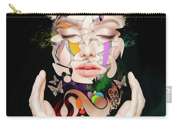 Abstract Portrait No 16 Carry-all Pouch