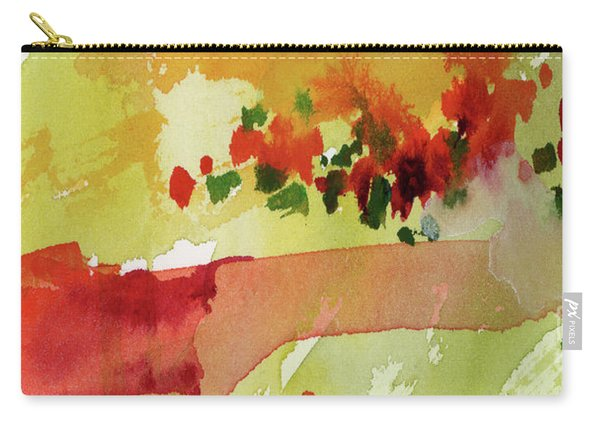 Abstract Red Poppies Panorama Carry-all Pouch