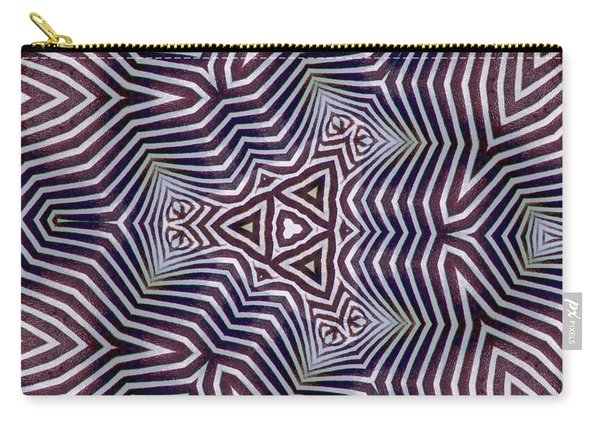 Abstract Zebra Design Carry-all Pouch