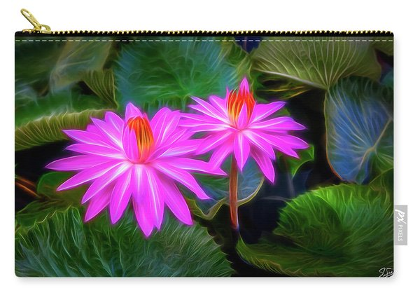 Abstracted Water Lilies Carry-all Pouch
