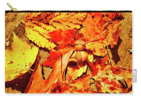 Acorns Fall Maple Oak Leaves Carry-all Pouch