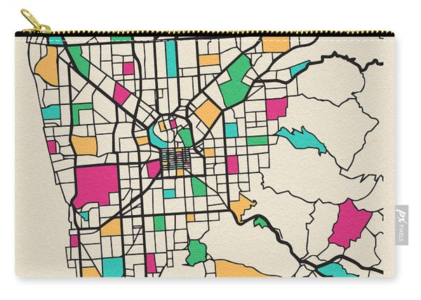 Adelaide, Australia City Map Carry-all Pouch