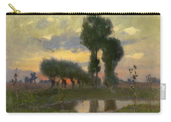 Adrian Stokes 1854-1935, Evening On The Plain Carry-all Pouch