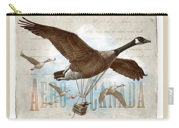 Carry-all Pouch featuring the drawing Aero Canada by Clint Hansen