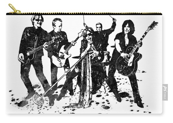Aerosmith Band Black And White Watercolor 02 Carry-all Pouch