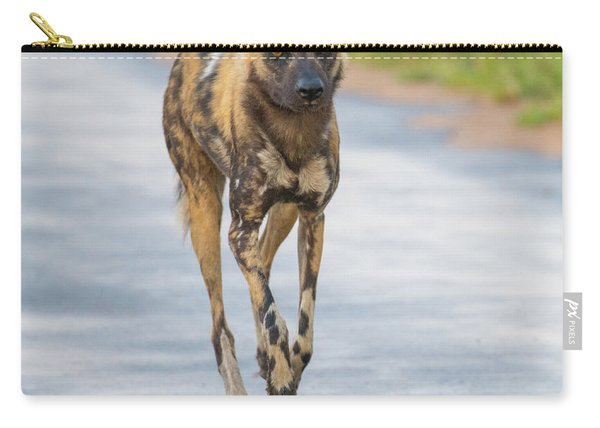 African Wild Dog Bouncing Carry-all Pouch