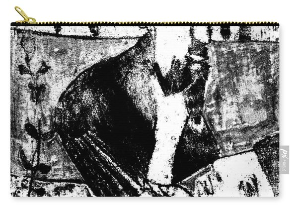 After Childish Edgeworth Black And White Print 26 Carry-all Pouch