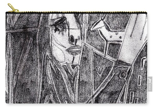 After Childish Edgeworth Pencil Drawing 10 Carry-all Pouch