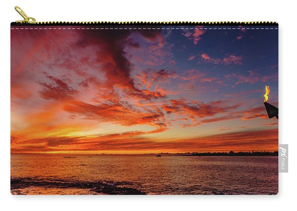 After Sunset Colors At Kailua Bay Carry-all Pouch