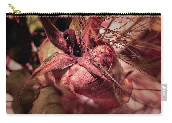 Carry-all Pouch featuring the photograph From Series Ageing Of The Skin 1  by Juan Contreras