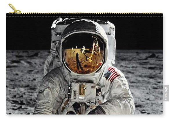 Aldrin On The Moon Carry-all Pouch