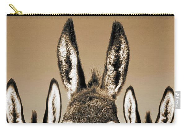 All Ears, Sepia Carry-all Pouch