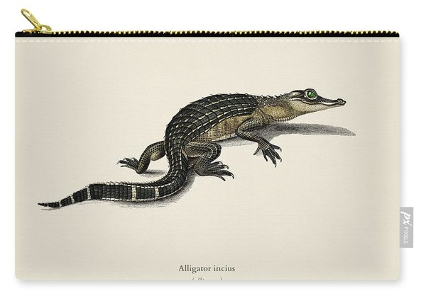 Alligator  Alligator Incius  Illustrated By Charles Dessalines D' Orbigny  1806-1876 . Carry-all Pouch