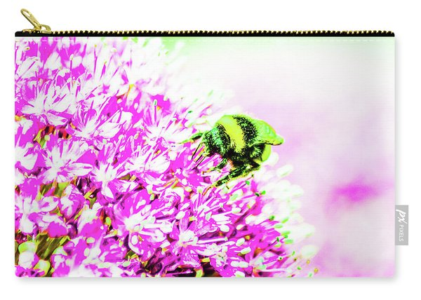 Allium With Bee 3 Carry-all Pouch