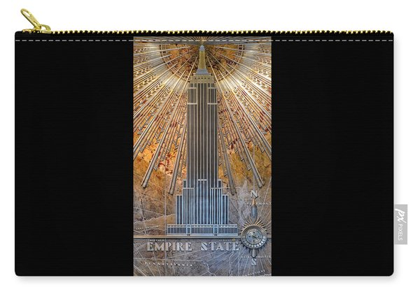 Aluminum Relief Inside The Empire State Building - New York Carry-all Pouch