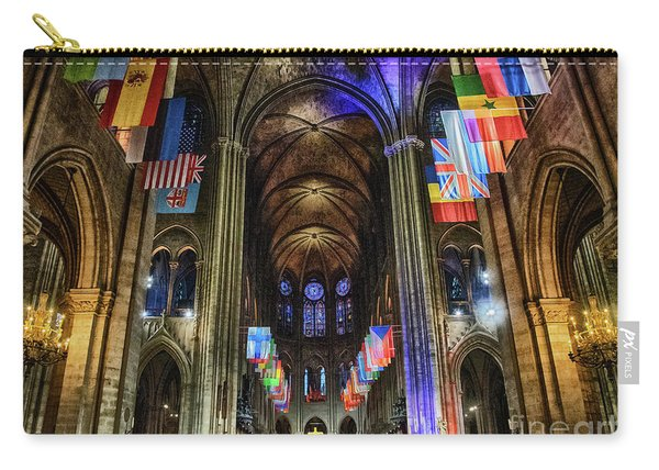 Amazing Interior Cathedrale Notre Dame De Paris France Before Fire Carry-all Pouch