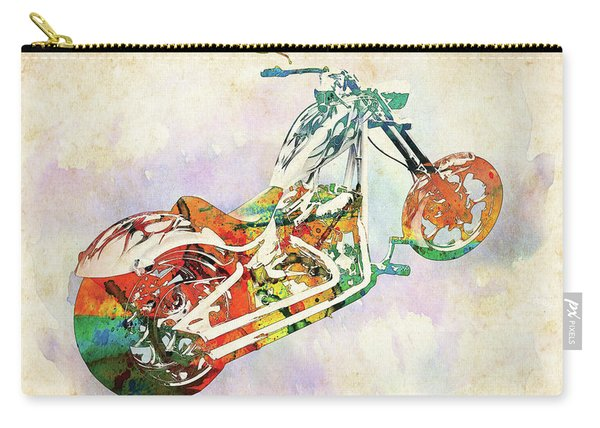 American Chopper Watercolor Carry-all Pouch