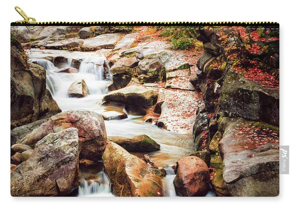 Carry-all Pouch featuring the photograph Ammonoosuc River, Autumn by Jeff Sinon