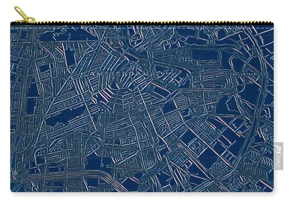 Amsterdam Blueprint City Map Carry-all Pouch