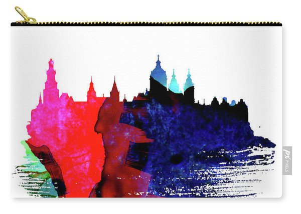 Amsterdam Skyline Brush Stroke Watercolor   Carry-all Pouch