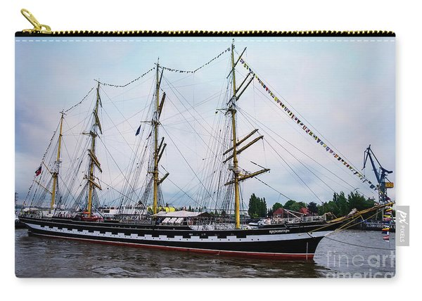 An Exit Sailboat Krusenstern On Parade Carry-all Pouch