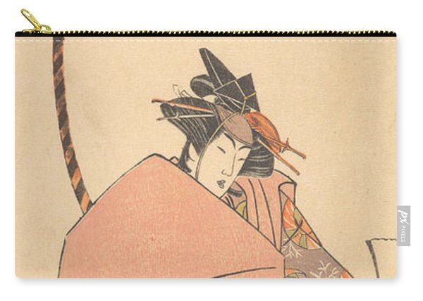 An Unidentified Actor In The Onna Shibaraku Act Carry-all Pouch