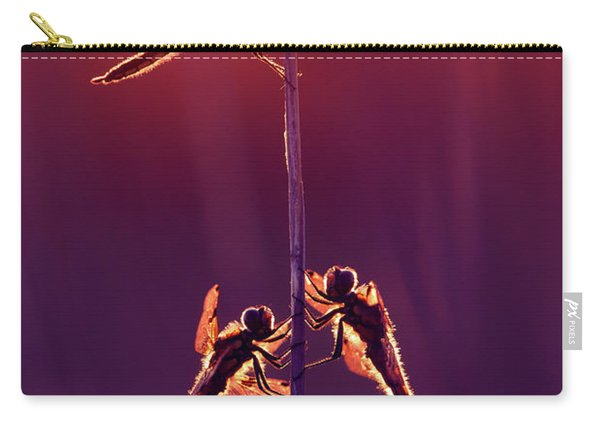 And Then I See A Lightness - Dragonflies At Sunset Carry-all Pouch