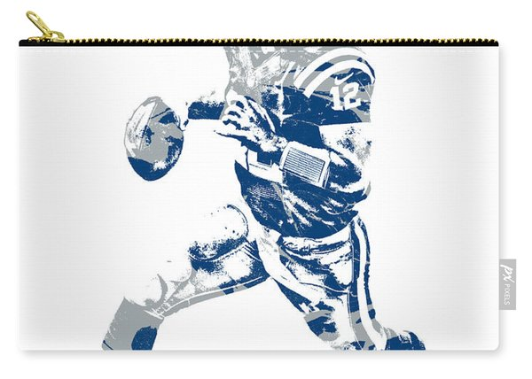 Andrew Luck Indianapolis Colts Pixel Art 7 Carry-all Pouch