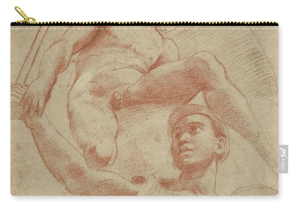 Angel And A Figure Representing The Planet Mars Carry-all Pouch