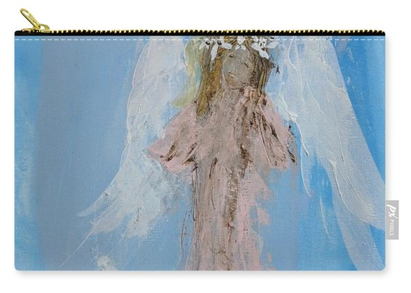Angel With A Crown Of Daisies Carry-all Pouch