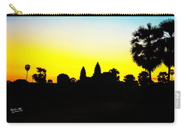 Angkor Wat Silhouette Carry-all Pouch