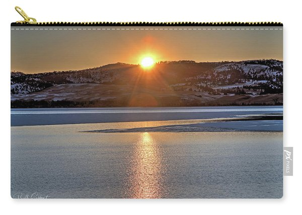 Carry-all Pouch featuring the photograph Angostura Sunset by Bill Gabbert