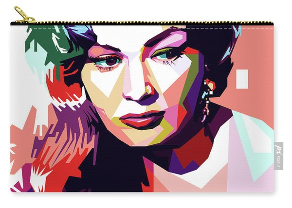 Anita Ekberg Pop Art Carry-all Pouch