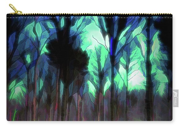 Carry-all Pouch featuring the digital art Another World - Forest by Scott Lyons