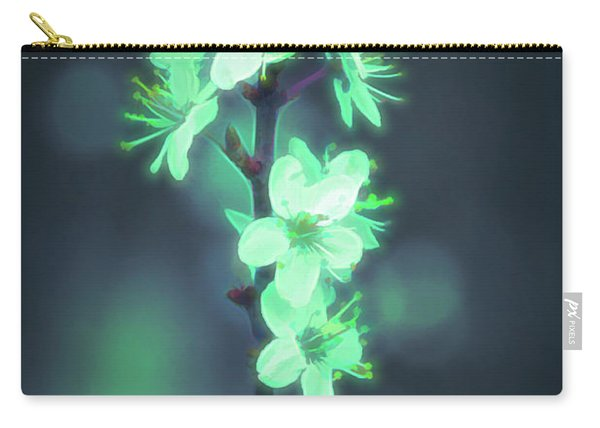 Carry-all Pouch featuring the photograph Another World - Glowing Flowers by Scott Lyons