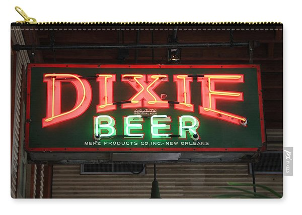 Antique Dixie Beer Neon Sign Carry-all Pouch