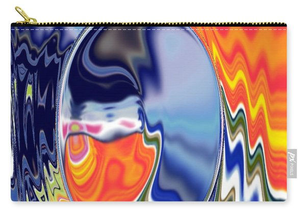 Carry-all Pouch featuring the digital art  Ooo by A z akaria Mami